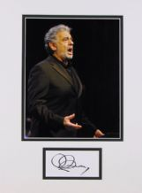 Placido Domingo Autograph Signed